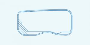 Compass fibreglass pool shape Riviera 8.6