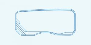 Compass fibreglass pool shape Riviera 9.4